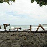 sunday morning yoga at the beach