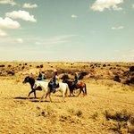 horseback riding with Phyllis