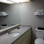bathroom counters are new but everything else is old. limited products