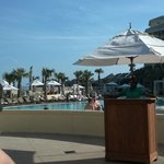 Just arrived! Drinks at the pool!