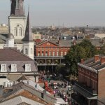View of Jackson Square from roof (please  rotate your head 90 degrees to see this one - sorry)