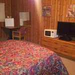 Every room is accommodated with TV, micro, and mini fridge