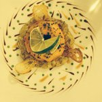 Paupiette de tourteau sur caviar d'aubergine