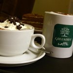 Coffee and cakes at Greentree Caffe