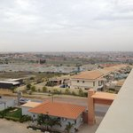 É visível a cidade do Kilamba, na linha do horizonte