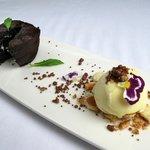 Coulant de Chocolate y Helado Vainilla