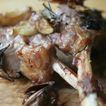 Lamb Lollipops - Local Devon lamb with Cracked Garlic Cloves, Thyme & Rosemary