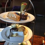 Afternoon tea - yum; we already ate two sandwiches before I got the camera out!