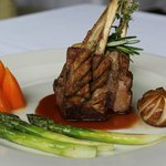 Rack of lamb with a rosemary and thyme sauce