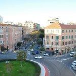 veduta di piazza San Benedetto e via Dante Alighieri