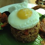 """Delicious """"kampung"""" fried rice."""