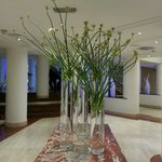 beautiful flowers at the hotel lobby.