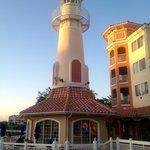 Lighthouse ice cream shop
