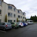 Rückseite des Luxmore Hotel in Te Anau