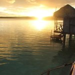 Sunset from the overwater bungalow