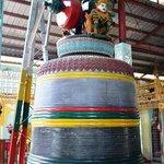 one of the bells inside the shrine