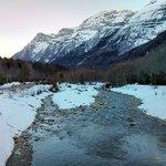 El río Cinca en las inmediaciones del parador