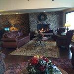Nice warm lobby/sitting area