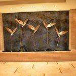 Lobby water chimes