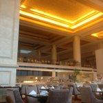 Hotel lobby and restaurant