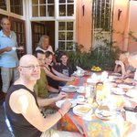 Breakfast with other guests and the wonderful hosts'