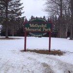 Methodist Memorial Park sign