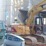 Construction at Hotel entrance