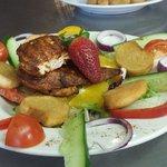 Juicy marinated cajun chicken salad