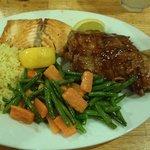 BBQ Ribs / Salmon Combo