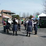 Scottish band outside