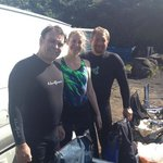 Divemaster / Instructor Greg w/fellow divers