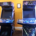 arcade games in media room
