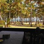 Beach view from Merengue Village restaurant