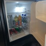 mini bar fridge in room #300