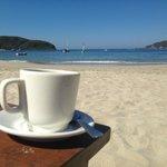 Morning coffee at La Perla