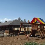 Outdoor Pavilion Dining, Playground & free horse shoes