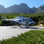"""Helicopter arriving for our """"flip"""" to the V&A Waterfront!"""