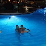 Nigth in the pool