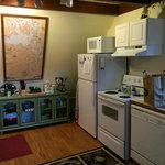 The adorable kitchen.