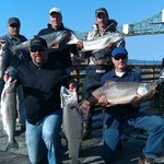 On the dock, in front of the hotel. King salmon caught!