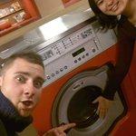 Rune & Wojtek doing their laundry