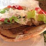 Gyro Sandwich and dollop of potato salad