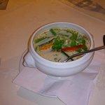 Chicken in spicy coconut soup Starter (Lunch Menu)