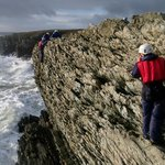 Sea level traversing on Anglesey with zip lines