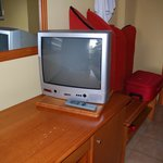 TV-set and desk in a 4-star hotel