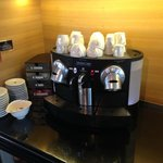 Nespresso machine in Executive Lounge