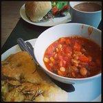 Cannellini soup and foccacia - yum!