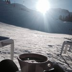 Hot chocolate in the sun