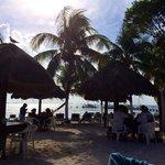 Beach bar at playa Norte
