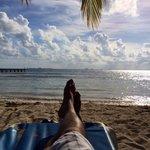 Relaxing at playa Norte